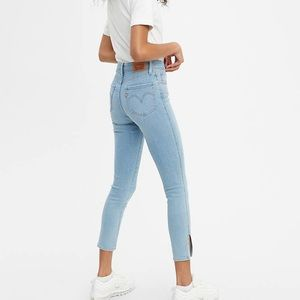 Levi's 721 High Rise Ankle Skinny Button Front